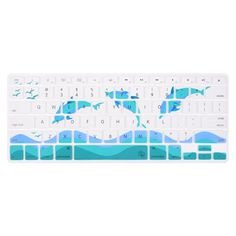 Case Star® Dolphin Series High Quality Silicone Keyboard Cover Skin with Sea Gull Spray for MacBook 13-Inch Unibody / Macbook Pro 13, 15, 17-Inch and Apple Wireless Keyboard (Dolphin-White&Turquoise Blue) Case Star http://www.amazon.com/dp/B00KL13ZMI/ref=cm_sw_r_pi_dp_I2O-wb15NQV4Y