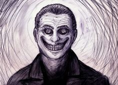 A college student's nightly walk is interrupted at by a man with an insane grin, who does a mesmerizing dance and silently follows the student around the dark neighborhood. The complete insanity of his face haunts the student forever.—Mollye Glennen, Facebook