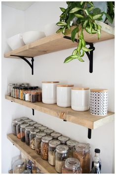 The flexible kitchen equipment - open shelf decor diy open shelves The flexible kitchen equipment - open shelf - Home Decors Ideas 2020 Home Decor Kitchen, Kitchen Interior, Home Kitchens, Kitchen Design, Decorating Kitchen, Kitchen Ideas, Wood Home Decor, Diy Wood Shelves, Floating Shelves