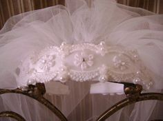 Charming White  Satin Venise Lace First by GlitterladyBridals, $25.00