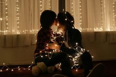 Image about love in lgbt by on We Heart It Lesbian Love, Cute Lesbian Couples, Adorable Couples, Teen Couples, Love Pictures, Couple Pictures, Christmas Couple, Christmas Lights, Christmas Kiss