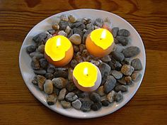 Brico bougies - Bougies de récup. - Bougies œufs - Avec 10 doigts