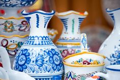 Modra - Modra ceramics is one of the most famous symbols of Slovak culture. Typical bright yellow and blue colors are applied on gentle curves of the ceramics by hand, making it one of the very last handcrafted potteries with traditional manufacturing process in Slovakia.