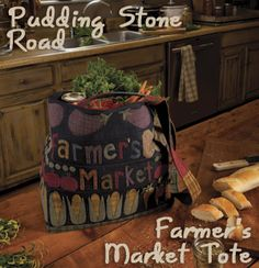 Farmer's Maret Tote by Puddying Stone Road - Summer 2012 back issue