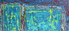 PAUL WESTAWAY, Adjacent Harbours, Distressed abstract experiment, ACRYLIC Painting ON IRREGULAR BOARD Size C via Art From Cornwall. Click on the image to see more!