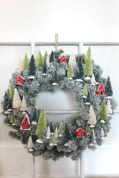 Dorf Weihnachtskranz,  #weihnachtskranz