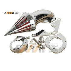 Chrome Spike Air Cleaner Intake Filter case for Yamaha Road Star 1600 1700 1999-Up