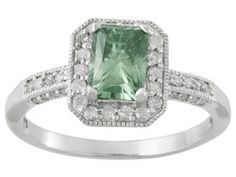 Moissanite Luisant Mint(Tm) 1.20ct Dew Radiant Cut With .28ctw Round Diamond Platineve(Tm) Ring