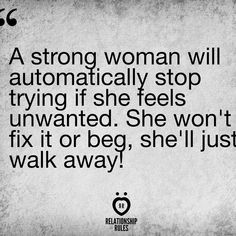 Time to be that strong woman