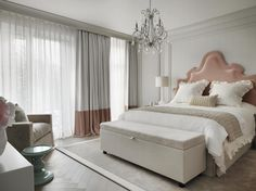 Bedroom design by Kelly Hoppen at a Chalet in Switzerland #interiordesigner #bestinteriordesigners #interiordesigninspiration home interior design, interior design ideas, interior decorating ideas Visit us at www.luxxu.net