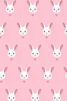 lovely pink bunny pattern
