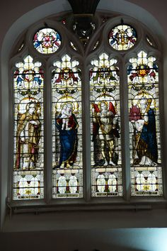 Windows in Blasenose College Chapel, Oxford, England. Stained Glass Windows, Big Ben, Oxford England, College, Christmas Tree, Holiday Decor, October, Home Decor, Art