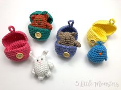 Free Easter Crochet Patterns You Will Love! - Knit And Crochet Daily Free Easter Crochet Patterns You Will Love! - Knit And Crochet Daily Crochet Gifts, Cute Crochet, Crochet Yarn, Crochet Toys, Finger Puppet Patterns, Finger Puppets, Easter Crochet Patterns, Amigurumi Patterns, Crochet Rabbit