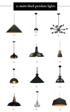 Cool Hunting || Matte Black Hardware for you home, including these cool pendant lights