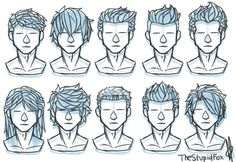Random Hairstyles Male by TheStupidFox