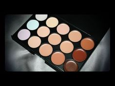15 Colors Professional Cream Foundation by BornPrettyStore.com | Michela... Concealer, Foundation, Eyeshadow, Cream, Colors, Youtube, Beauty, Creme Caramel, Eye Shadow
