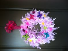 Fancy Nancy wreath
