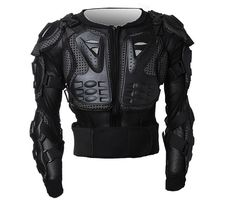 08d53ce8453 Professional Motorcycle Full Body Riding Portection Armour Armor Jacket  Guard Motorcross Racing Clothing ATV Shirt with Back Protection (XXX-Large,  Black)