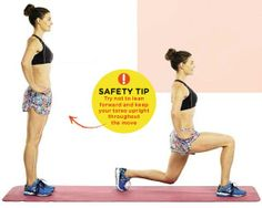 LUNGE Areas trained: LEGS, BOTTOM