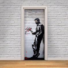 Door Decal Self-Adhesive Vinyl Sticker - Banksy Waiting In Vain Street Art Graffiti Door Cover Wrap by Decorelo on Etsy https://www.etsy.com/listing/250224421/door-decal-self-adhesive-vinyl-sticker