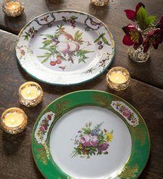 Decorative Tin Plates & Decorative Tin Bowls | log cabins in the woods | Pinterest | Log ...