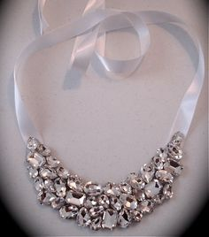 Bridesmaid Statement Necklace chunky  bib by TheCrystalRose, $75.00