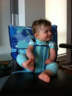 Travel High Chair PDF Sewing Pattern INSTANT por BLISSFULpatterns