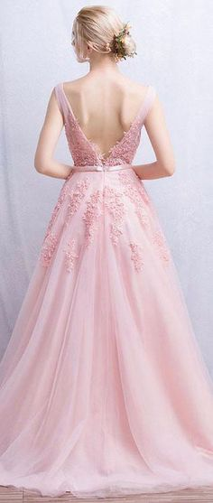 US$117.15-Beautiful Sleeveless Appliques Tulle Pink Long Prom Dress.  https://www.newadoringdress.com/sleeveless-appliques-tulle-dress-p331209.html.  Free Shipping! NewAdoringDress.com selected the best prom dresses, party dresses, cocktail dresses, formal dresses, maxi dresses, evening dresses and dresses for teens such as sweet 16, graduation and homecoming. #prom #dress