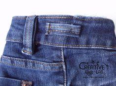 tutorial riciclare jeans fare borsello tracolla fai da te diy 23