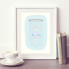 Inspirational Rain Cloud Print   Ginger Pickle   Handmade Jewellery, Accessories, Homewares and Stationery made by UK designers.