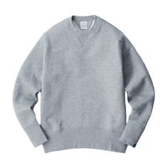 Loopwheeler Basic Crew-neck Set-in Sleeve Pullover.