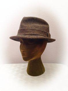 e3259eae2a1 Vintage Knox Green Tweed Hat Fedora by ArtDecoDame on Etsy Hat Styles