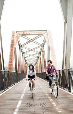 닥터스 포토스케치 철교 위에서 신나게 자전거를 타는 박신혜 김래원
