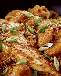 Chicken Almond Curry with Apricots (Recipe from Food & Wine) - fasty and healthy chicken dish.