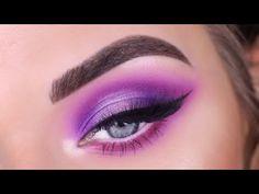 eyeshadow looks Jeffree Star Cosmetics Jawbreaker Palette Purple Eyeshadow Looks, Purple Makeup Looks, Bright Eye Makeup, Dark Eye Makeup, Purple Eye Makeup, Makeup Eye Looks, Colorful Eye Makeup, Eye Makeup Art, Colorful Eyeshadow