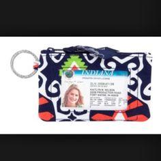 Vera bradley zip ID case - sun valley