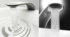 Ce robinet permet d'économiser l'eau en créant de magnifiques spirales tourbillonnantes ! http://piwee.net/1-robinet-eau-economie-spirale-3090315/