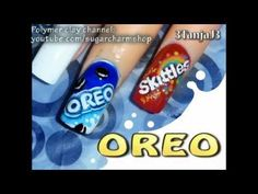 Tutorial to make the Oreos nail art....soooo cool!!  I wish I could do this.
