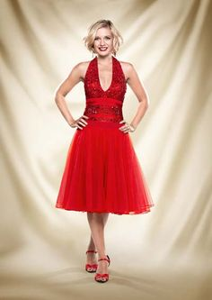 Rachel Riley Strictly Come Dancing 2013 - I'd love this in teal (with a higher neckline :-P)