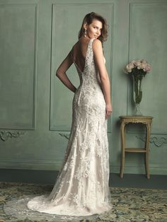 Allure Bridals: Style: 9116 - Great Gatsby 1920's Art Deco Wedding Dress