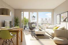 Die schönen und sonnigen 1- 5 Zimmer Eigentumswohnungen bieten eine Wohnfläche von ca. 30 m² bis 132 m²