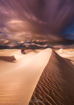 Mesquite Dunes in Death Valley National Park, California by Ted Gore