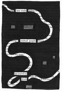 Roads | Black Out Poetry | C.B. Wentworth