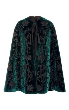 Velvet Applique Cape by TALITHA for Preorder on Moda Operandi