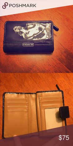 Coach wallet. Beautiful navy blue color. Coach Bags Wallets