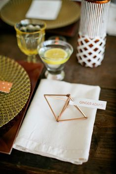 Playful geometric shapes are the perfect touch for seating assignments with interest #Cedarwoodweddings Mid-Century Cedarwood Wedding Inspiration | Cedarwood Weddings