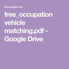 free_occupation vehicle matching.pdf - Google Drive Community Helpers Preschool, File Folder Activities, Pre School, Preschool Activities, Google Drive, Booklet, Lesson Plans, Teaching, Pdf