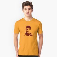 'Dave the Rave' - Slim Fit T-Shirt Dave Fanning, Irish rock music spinmaster dj. Irish Fashion, My T Shirt, Tshirt Colors, Chiffon Tops, Nostalgia, Shirt Designs, Classic T Shirts, Irish Rock, Irish Art