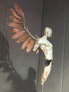 Winged man in Bronze by philip wakeham https://www.facebook.com/PhilipWakehamSculptor