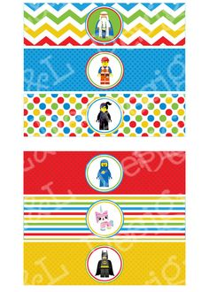 Lego Movie Water Bottle Labels Lego Movie Birthday by EandLdesigns, $4.00